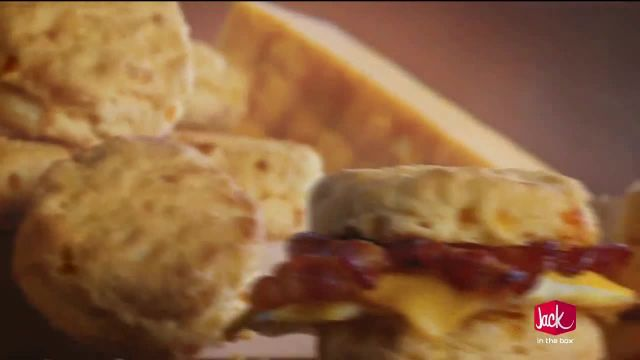 Jack in the Box Cheddar Biscuits Breakfast Sandwiches TV Commercial Ad 2021, Better With Cheddar