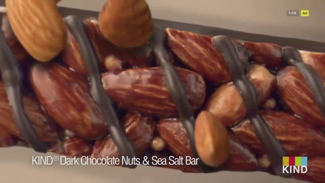KIND Snacks Dark Chocolate Nuts & Sea Salt TV Commercial Ad 2021, Heart Healthy Almonds