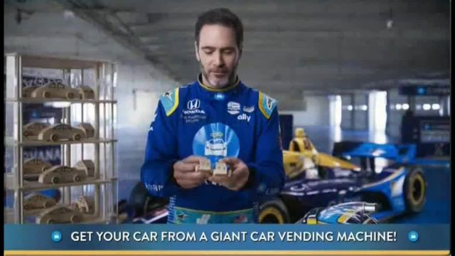 Carvana TV Commercial Ad 2021, Giant Car Vending Machine' Featuring Jimmie Johnson