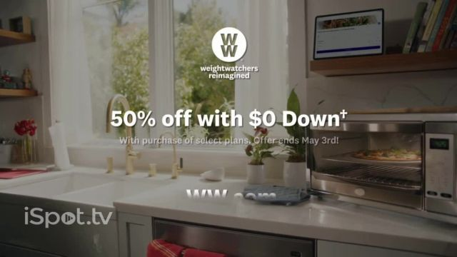 WW TV Commercial Ad 2021, Pizza- 50% Off, $0 Down' Featuring James Corden