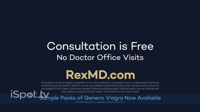 REX MD TV Commercial Ad 2021, Should Viagra Cost $90-