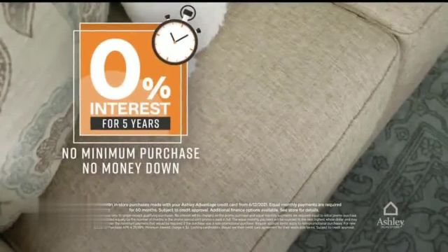 Ashley HomeStore One Day Sale TV Commercial Ad 2021, 0percent Interest or 25percent Off Storewide