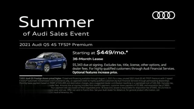 Summer of Audi Sales Event TV Commercial Ad 2021, Exceptional Features