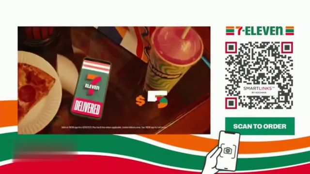 7-Eleven TV Commercial Ad 2021, Take It to Eleven With 24_7 Delivery- $5 Large Pizza- QR' Featuring Yip Yops