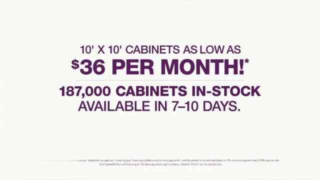 Cabinets To Go TV Commercial Ad 2021, Wow- Cabinets as Low as $36 Per Month