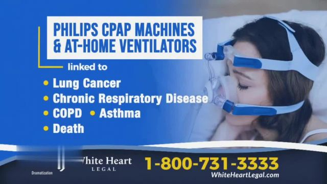 White Heart Legal TV Commercial Ad 2021, Philips CPAP Machines and At-Home Ventilators