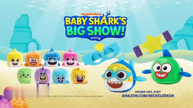 Baby Shark's Big Show! Toys TV Commercial Ad 2021, Song Cubes and Reversible William Plush
